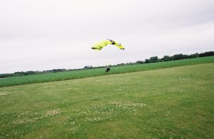 Landing in a corn field, but smooth and no complication.
